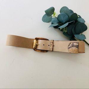 Doncaster Leather Snakeskin Belt